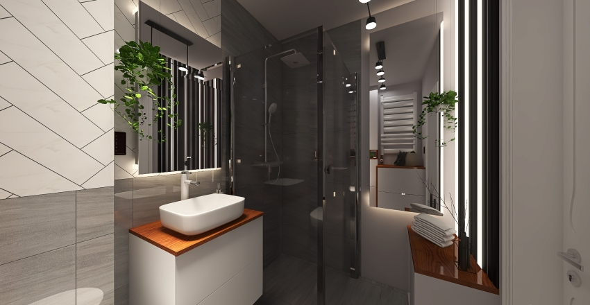 My toilet Interior Design Render