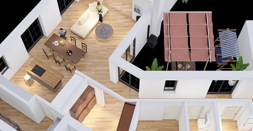 v5 Dopasowany bardziej z kuchnia Interior Design Render