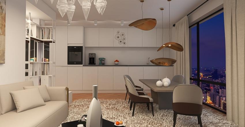 apartment-studio Interior Design Render