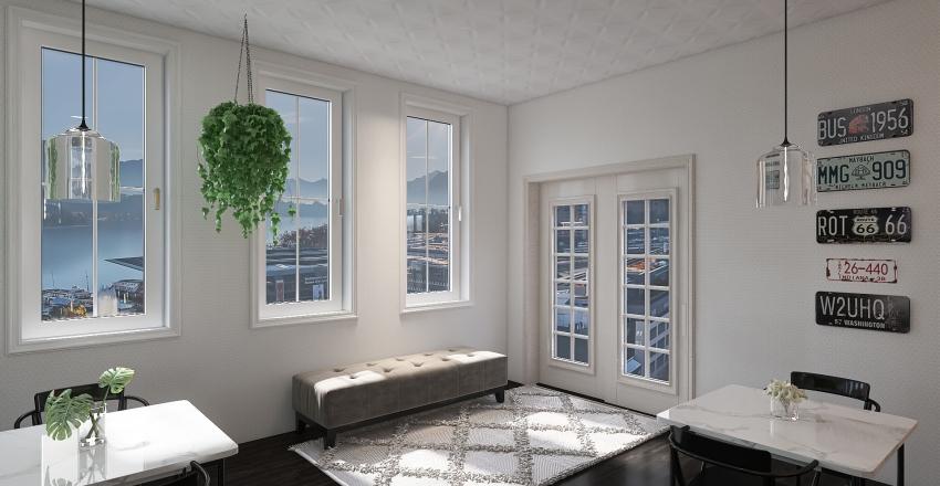 Chic Cafe Interior Design Render