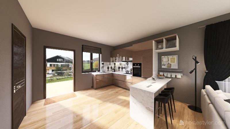 Half Duplex House TM Interior Design Render