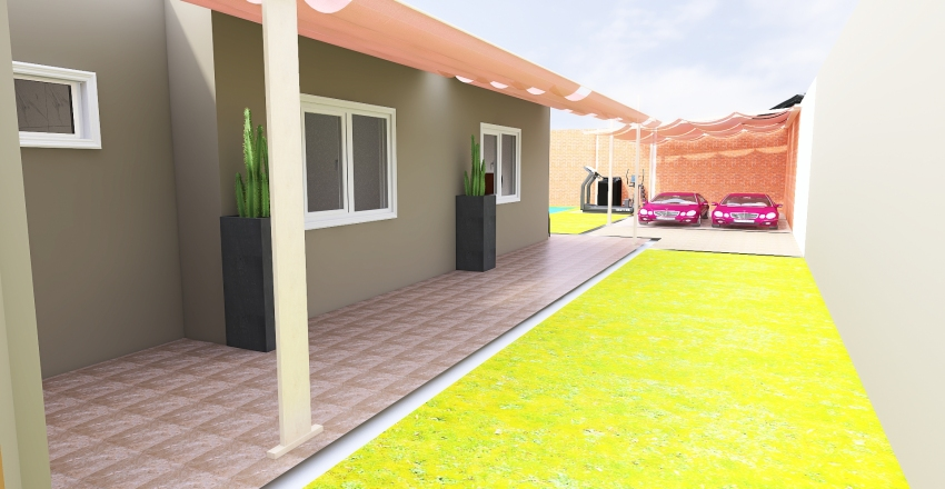 casa barby y yamil Interior Design Render