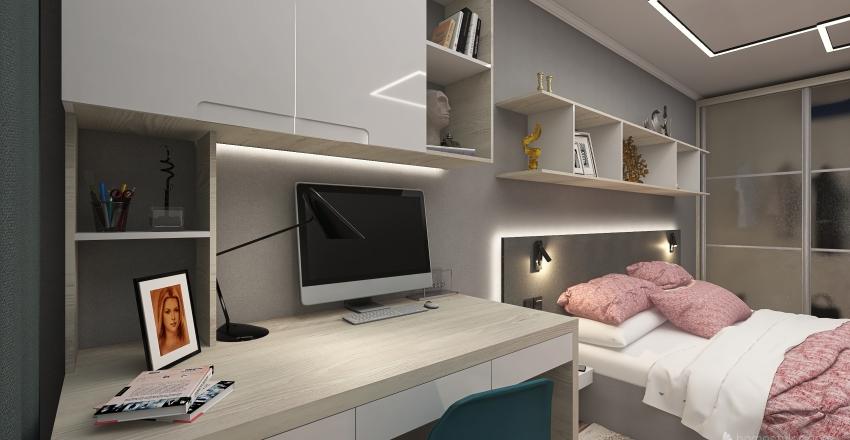 Уютная спальня в городе Мурманск Interior Design Render