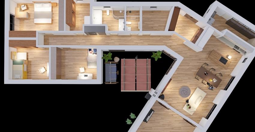 v3 Sypialnia z garderoba Interior Design Render