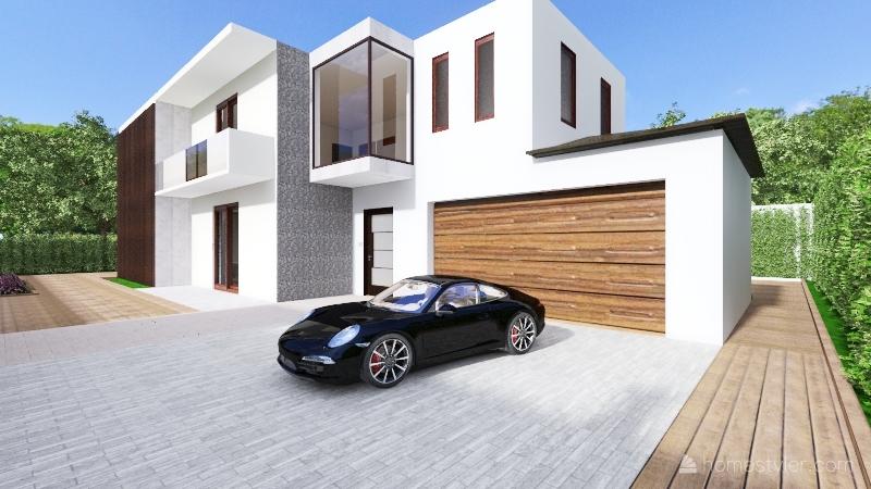 Modern Contemporary House Interior Design Render