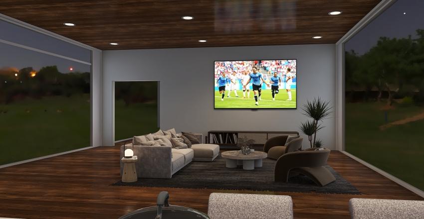 Airy Home Interior Design Render