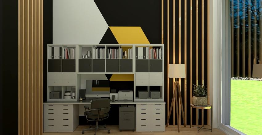 Eco House Interior Design Render
