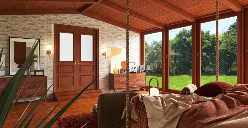 Mid Century Interior Design Render