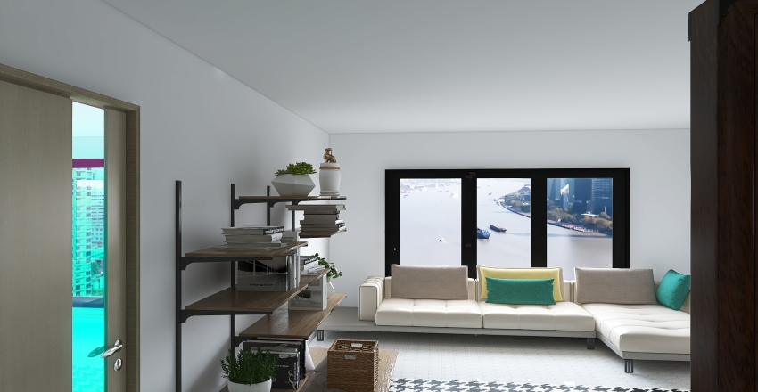 Family House Interior Design Render