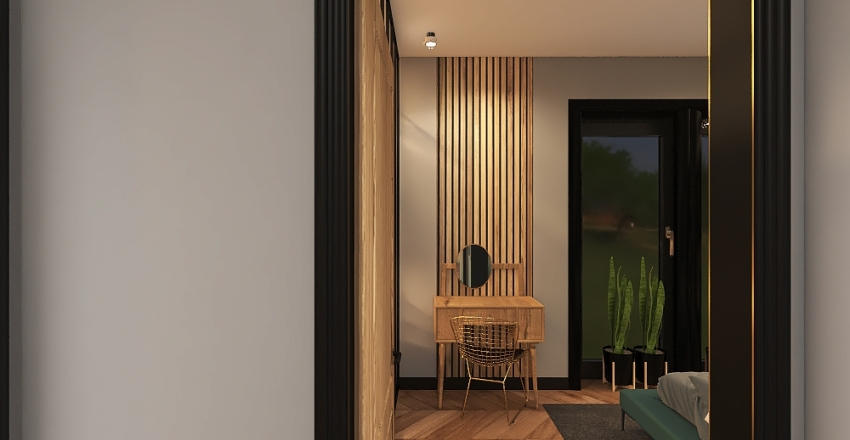 bez mebli MIESZKANIE M PIĘTRO Interior Design Render