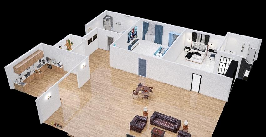 บ้านชั้นเดียว Interior Design Render