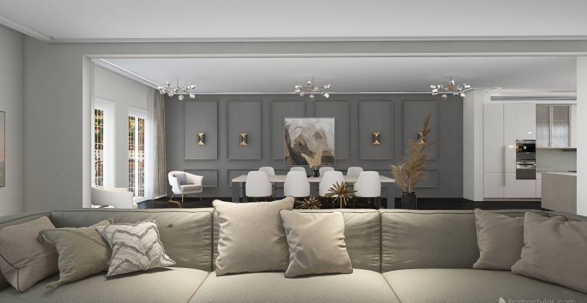 Parisian Apartment 2021 Interior Design Render