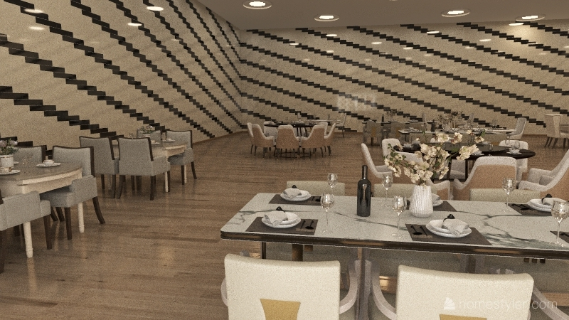 restaurante Interior Design Render