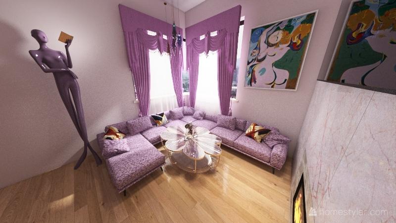 3 комнатная квартира Interior Design Render