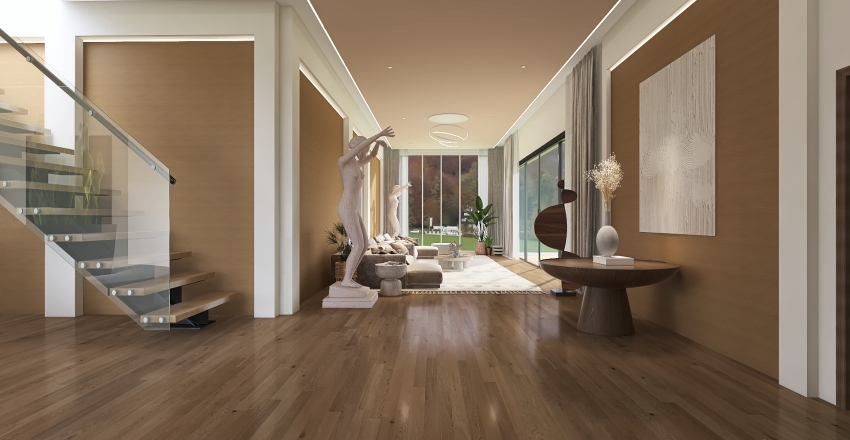 Earthy Interior Design Render