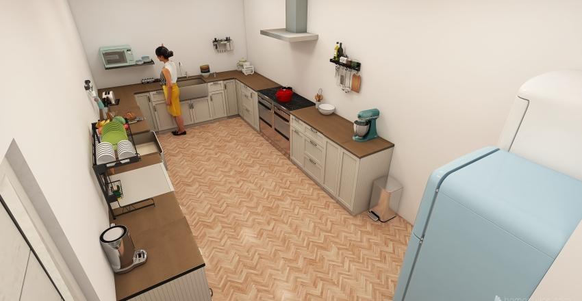 Koselig Café Interior Design Render