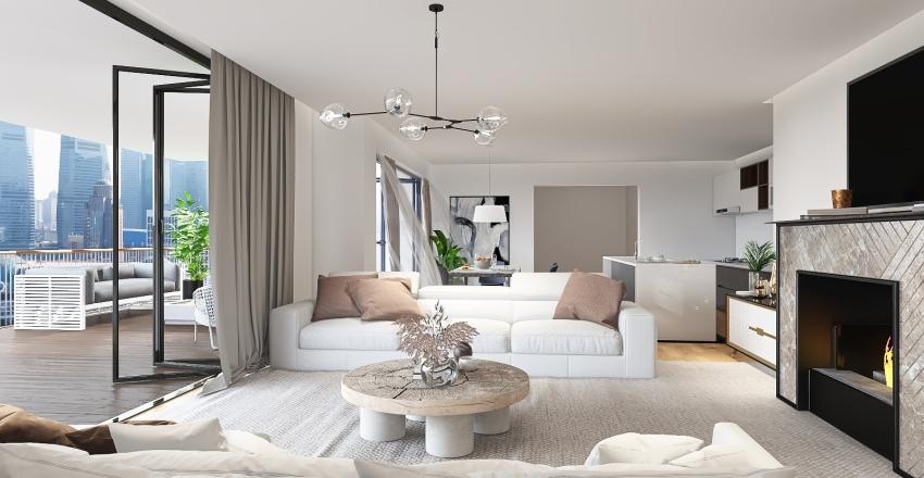 saloon Interior Design Render