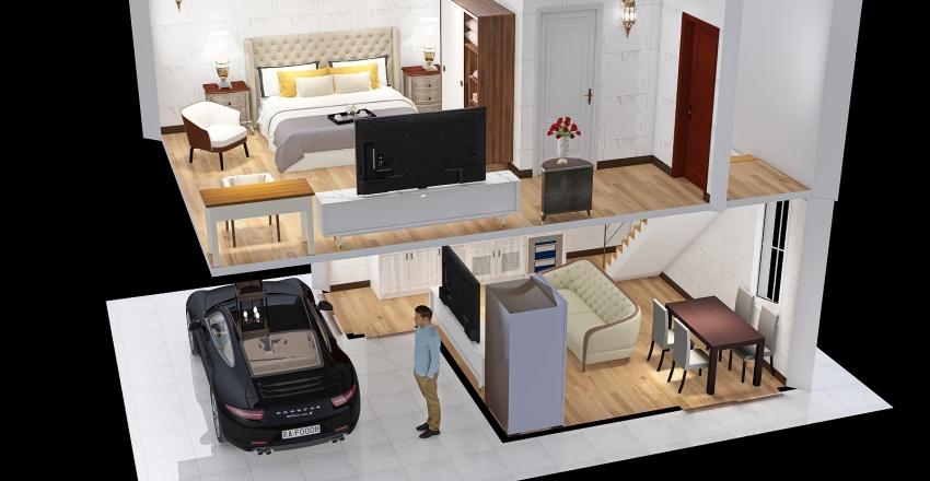 mini hotel 6 Interior Design Render