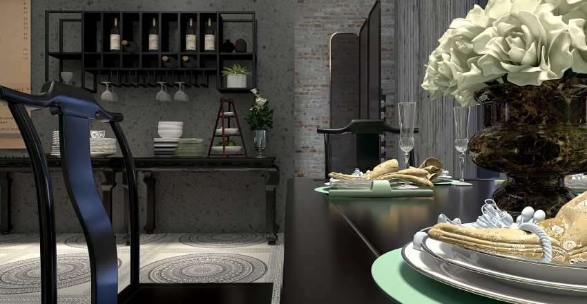 Pippa's Place.  Café at the coast. Interior Design Render