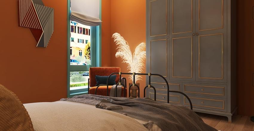 Memphis mix 3 Bedroom Interior Design Render