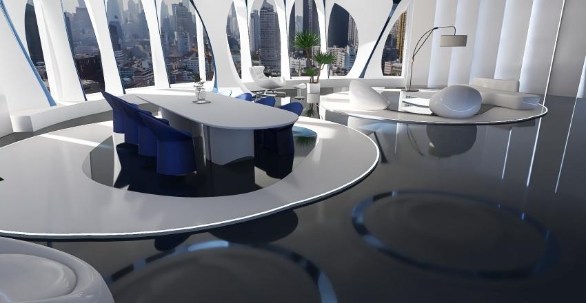 Futuristic Design Interior Design Render