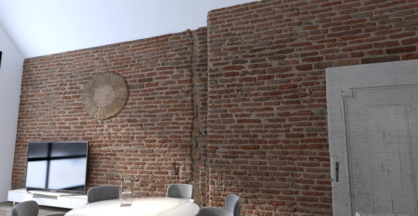 Winter home Interior Design Render