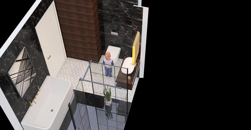 łazienka 1p Interior Design Render