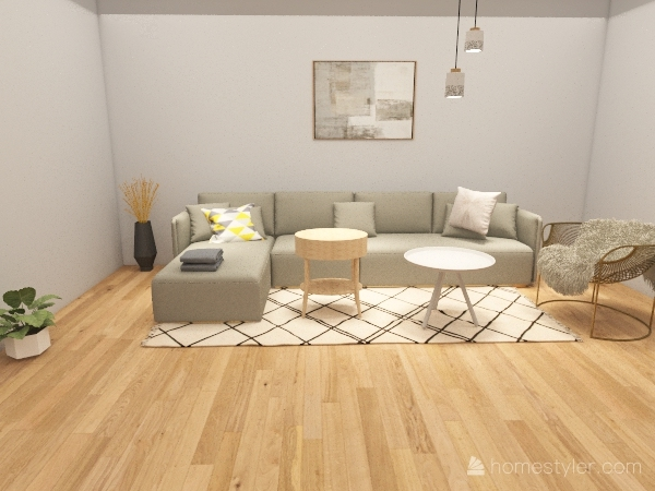 WHITE ROOM Interior Design Render