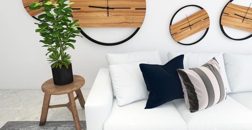 Hidden Industrial Home Interior Design Render