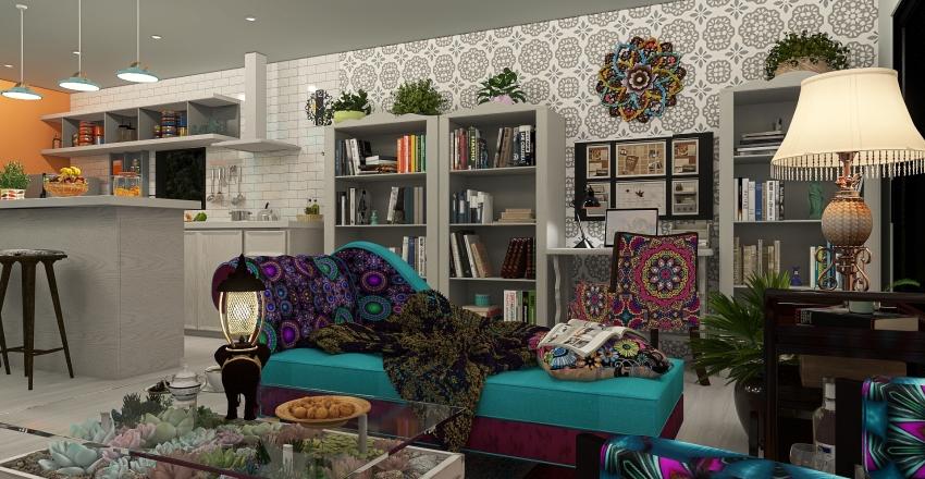 UNA CASITA ECLECTICA PARA GABY Interior Design Render