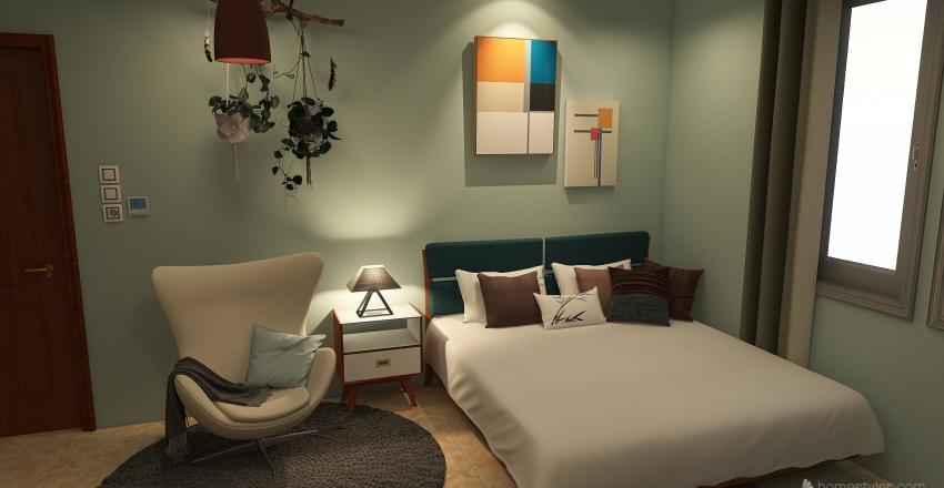 Colorful Modern 5 x 4 M Interior Design Render