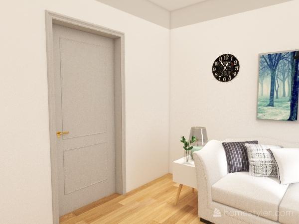 Sunday living room Interior Design Render