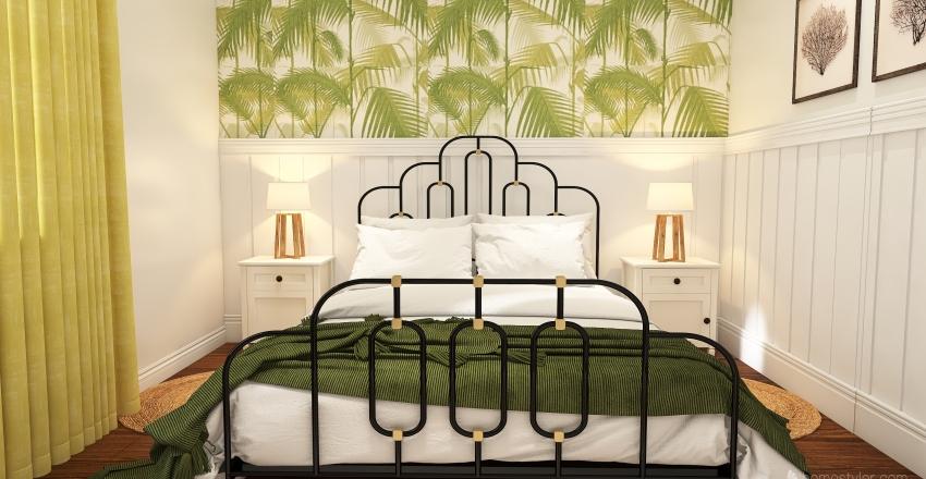 green decor  Interior Design Render