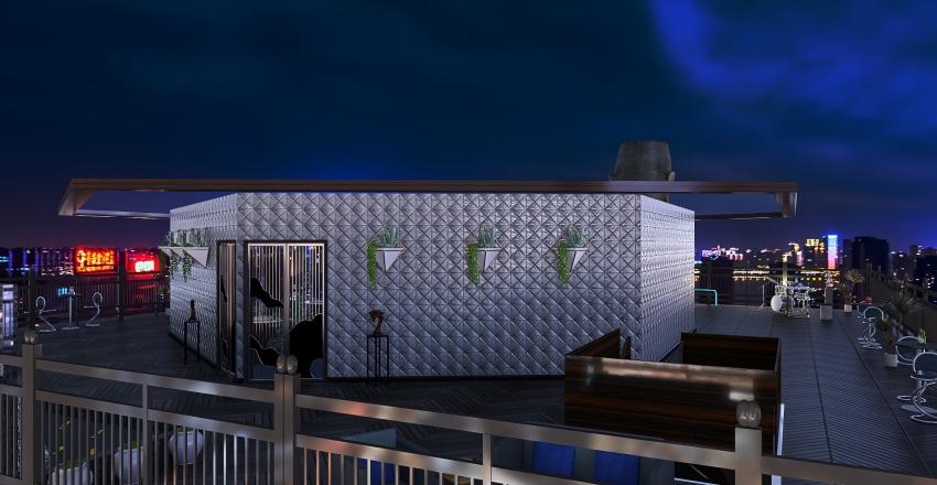 Onyx Rooftop Bar Interior Design Render