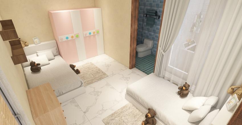 Rumah Putih Fix 10x20 Interior Design Render