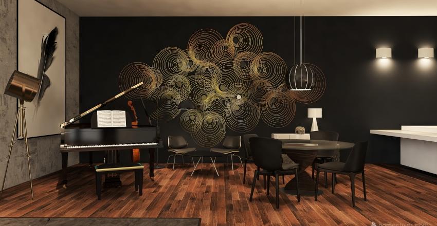"Apartamento ""IN BLACK"" Interior Design Render"