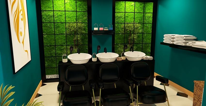 Jul's Beauty Salon Interior Design Render