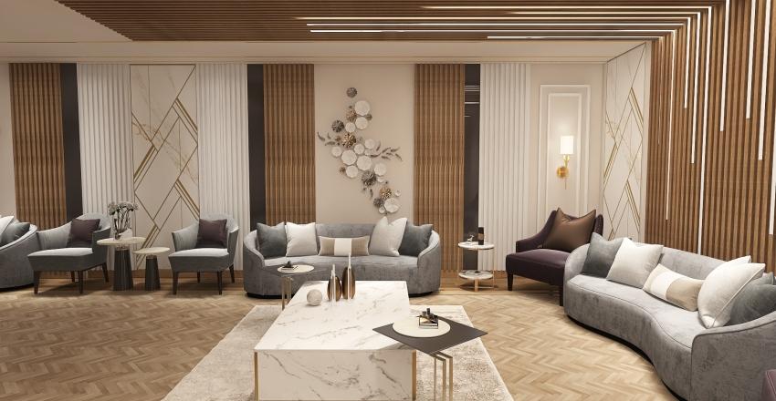 Basement lounge Interior Design Render