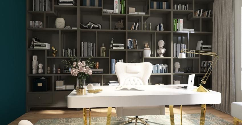 Home Office Interior Design Render