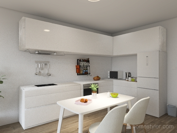 Korean Like Apartement Interior Design Render