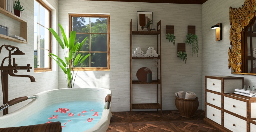 Thai inspired Interior Design Render