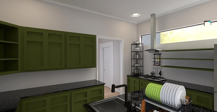 Modern Classic Family Home Interior Design Render