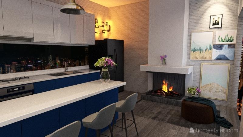 Cocina diplomado DDI Interior Design Render