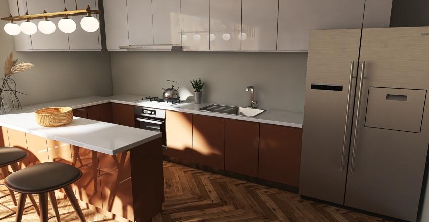 Apartment - Earthy tones Interior Design Render