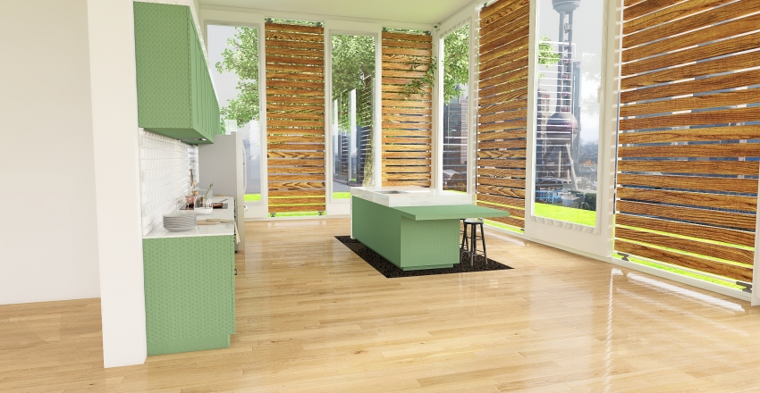 Simple Outdoors Interior Design Render