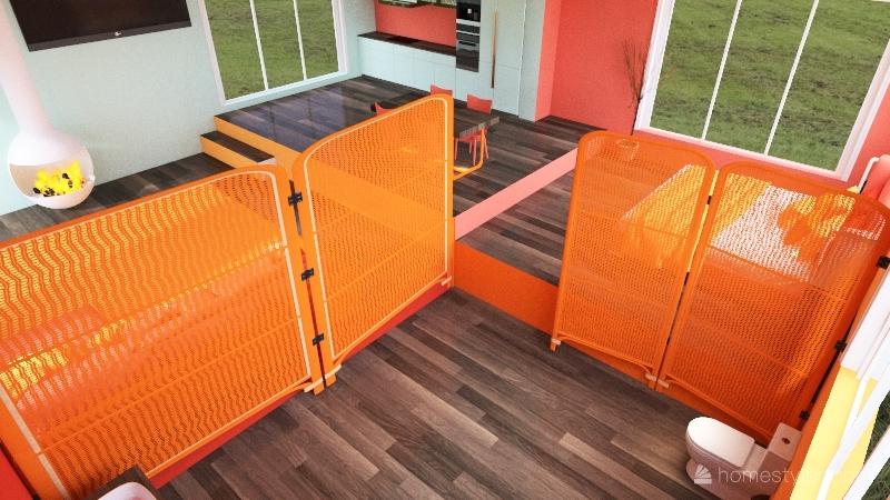 high up house Interior Design Render