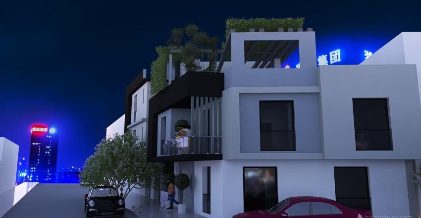 Modern Townhouse Development  Interior Design Render
