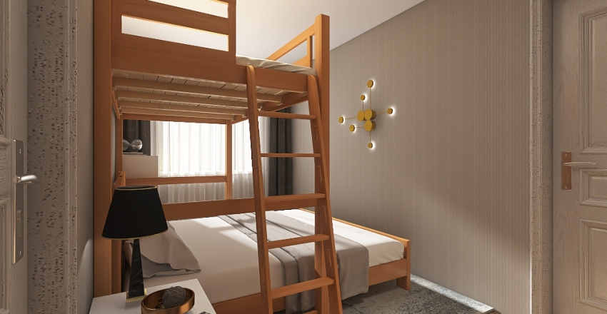 Guest room for family Interior Design Render