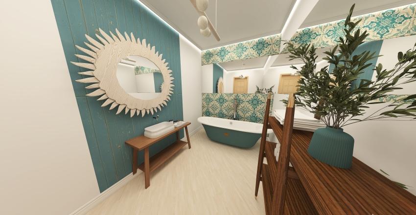 zawadzki design boho flat Interior Design Render