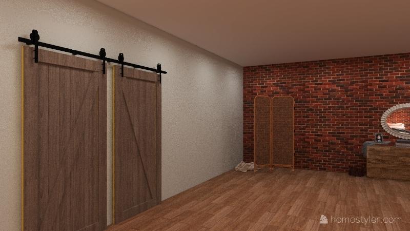 Modern Boho Bedroom Interior Design Render